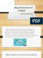 Lending Functions of a Bank Ppt
