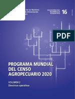 Programa Mundial Del Censo Agropecuario - Volumen II