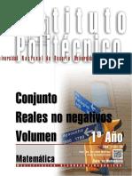 MATEMÁTICA Conjunto - Reales No Negativos - Volumen