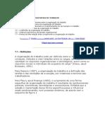 CONDIÇÕES ORGANIZACIONAIS DE TRABALHO