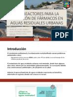 Reactores Para La Remoción de Fármacos en Aguas Residuales Urbanas