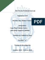 Modelos de Calidad de Agua - Software de Modelado