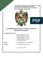 """""""LA REFORESTACIÓN, SIEMBRA Y COSECHA DE AGUA EN LA PROVINCIA DE HUAMANGA"""".-converti.docx"""