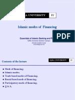 Islamic Modes of Financing W9W10
