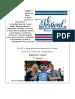 (Draft) Le Festival