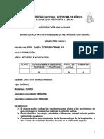Sonia Torres Temario Problemas 2020-1