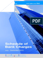 Schedule of UBL Bank Charges (July to Deccember 2019)