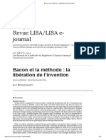 Bacon Et La Méthode La Libération de l'Invention