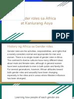 Gender Roles Sa Africa at Kanlurang Asya