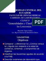Hemato II Clasificación y Generalidades de Leucemias