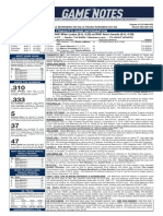 07.30.19 Game Notes