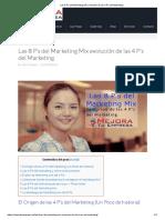 . Las 8 P's Del Marketing Mix Evolución de Las 4 P's Del Marketing