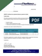 Carta Sena Atencion Al Cliente 2019 Tc Deltec
