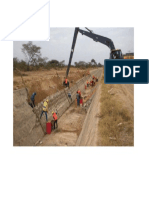 Proceso constructivo de un canal de mampostería de piedra