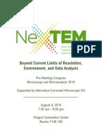NexTEM 2019 Final Program