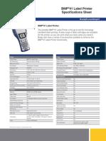 BMP®51 Label Maker Specifications Sheet