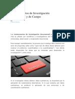 4 Instrumentos de Investigación Documental y de Campo Auxiliar