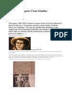 Vida de Augusto César Sandino