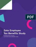 Zeta Employee Tax Benefits Study