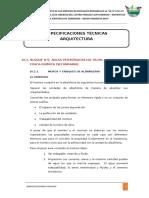 BLOQUE 5-especificaciones tecnicas arquitectura