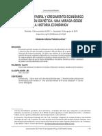 Industria Fabril y Crecimiento Económico de La Union Sovietica. 2771-Texto Del Artículo-10722-1!10!20190602