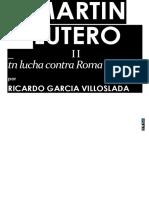 Garcia Villoslada Ricardo Martin Lutero 02 en Lucha Contra Roma