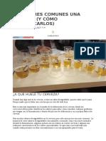 15 Abores Comunes de Una Cerveza