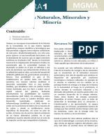 Recursos Naturales en Minerales y Mineria