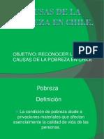 Causas de La Pobreza en Chile.