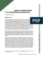 CALLE Vasquez Rosangela, El conocimiento tradicional y la propiedad intelectual.pdf