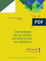 Genealogia Justicia Constitucional 1ra Reimp 2012