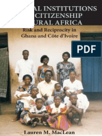 (Cambridge Studies in Comparative Politics) Lauren M. MacLean - Informal Institutions and Citizenship in Rural Africa_ Risk and Reciprocity in Ghana and Cote d'Ivoire-Cambridge University Press (2010)