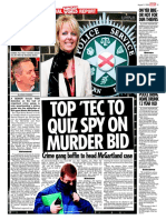 RUC / PSNI / Special Branch / MI5 / Army [State] 'touts - informers' and Martin McGartland PIRA kidnappers, Jim McCarthy and Paul 'Chico' Hamilton being protecting from justice