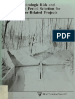 Selección de riesgo hidrológico y período de retorno para proyectos