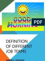 JOB TERMS