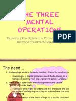 5 Three Mental Operations