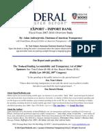 Federal Transfer Report- Export-Import Bank FINAL