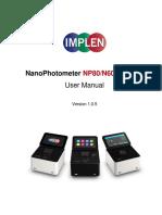 Implen Nanophotometer User Manual V1.0.5
