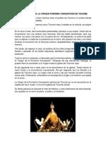 La Aparición de La Virgen Purísima Concepción de Túcume