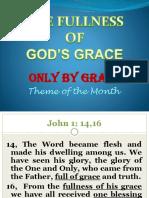 Ptr. EM's Sermon on the Fullness of God's Grace