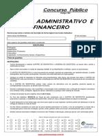 Agente Administrativo e Financeiro
