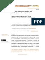 Epistemologías Transfeministas e Identidad de Género en La Infancia. Del Esencialismo Al Sujeto Del Saber. Siobhan