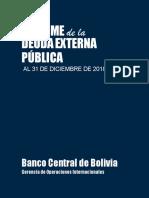 Informe de la deuda externa pública al 31 de diciembre de 2018