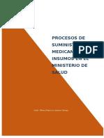 Procesos de Suministro de Medicamentos e Insumos en El Ministerio de Salud