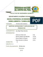 Aditivos Extracción Liofilización Grupo 9
