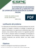 ESTRATEGIAS DE MECANIZADO PARA ALUMINIO
