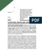 Denuncia Penal Por Usurpación Agravada y Daños de Rubén Agapito Huamani Cabrera y Paula Rosa Morón de Huamani