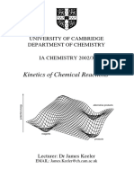 Kinetics of Chemical Reactions, James Keeler