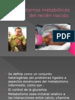 8- Trastornos Metabólicos Del Recién Nacido