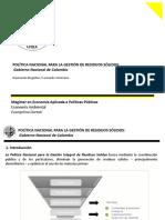 POLÍTICA NACIONAL PARA LA GESTIÓN DE RESIDUOS SÓLIDOS
